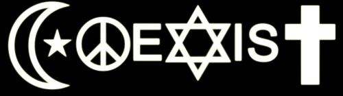 Coexist - We have to learn to coexist. We are different be we are all humans.
