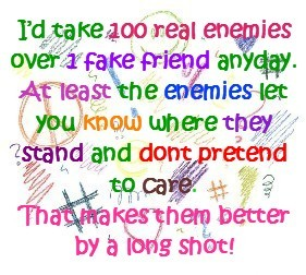 Fake friends - A photo showing a definition of Fake Friends