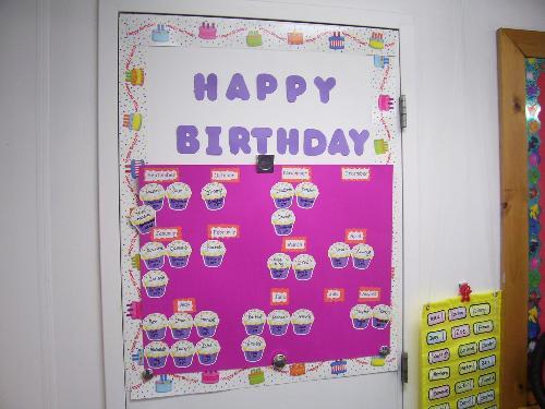Classroom Walkthrough Ideas ~ Classroom birthday graph
