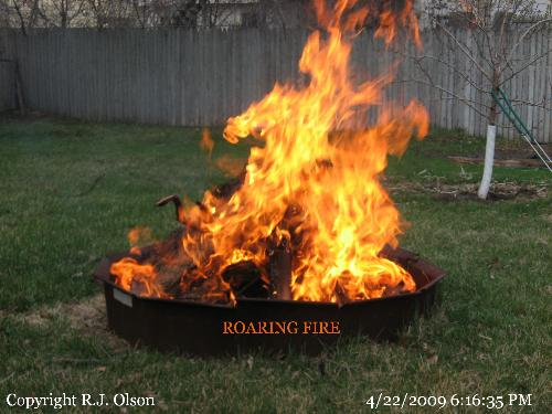 Roaring Bonfire - Finally had a day that wasn't really dry for a bonfire.