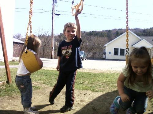 kids outside - My kids outside
