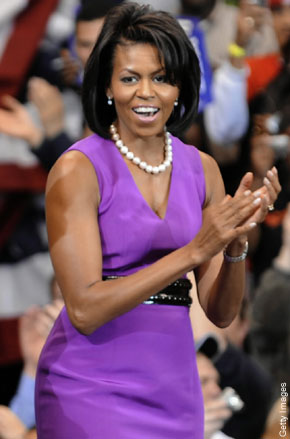 Michell Obama - US First Lady Michell Obama is one of the first 100 beautiful women of the world.She is well dressed,well fashioned and well mannered.