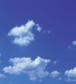 A blue sky - just a picture of a blue sky