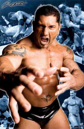 Batista - A photo of wwe wrestler Batista.