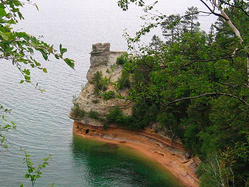 """Miners Castle - this is one of the sections named """"pictured rocks"""""""