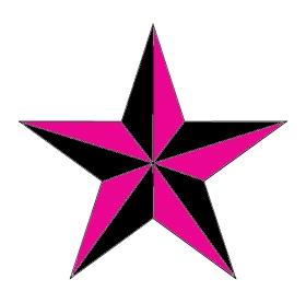 Nautical Star Tattoo Pink