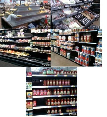 Bare shelves at the Fernley, Nevada Wal-mart becau - Bare shelves at the Fernley, Nevada Wal-mart because of poor ordering