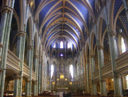Notre Dame Cathedral - This is a picture of the inside of Notre Dame Cathedral, the oldest church in Ottawa, Ontario, Canada.