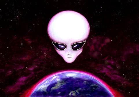 Aliens Watching Earth  - alien,ufo,advanced race,interested,in,earth
