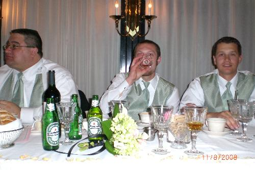Mitchell and SoCo - This is a picture of me at my sisters wedding, beer appropriate!