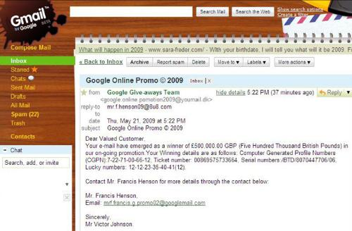 """Scam E-mail sent by """"Google"""" - Scam E-mail sent by """"Google""""."""