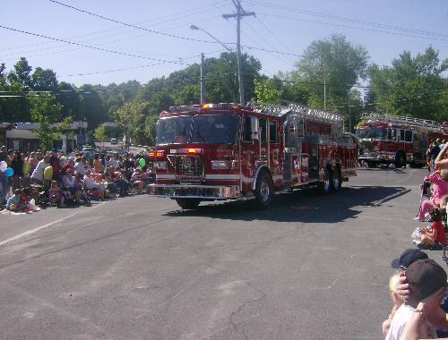 Firetruck  - A firetruck in the Memorial Day Parade