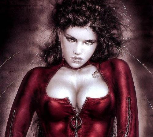 pretty lady - lady with red dress