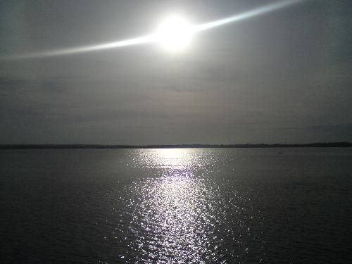 The Sun, source of life's beauty - This picture was taken at the port of Hagnaya in a barge headed to Bantayan Island.