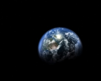 The Planet Earth - A image taken from a screensaver that I have in my computer.