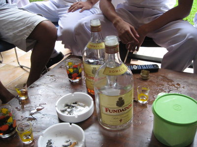 decking for drinking called tagay -  tagay means sharing the same drink and making toast for it