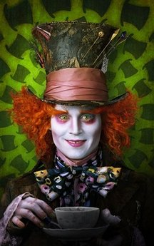 Johnny Depp as Mad Hatter - public photo for the movie Alice in Wonderland