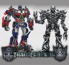 tranformers - from wikipedia.com  Transformers is a 2007 live-action film adaptation of the Transformers franchise, directed by Michael Bay and written by Roberto Orci and Alex Kurtzman. It stars Shia LaBeouf as Sam Witwicky, a teenager involved in a war between the heroic Autobots and the evil Decepticons, two factions of alien robots who can disguise themselves by transforming into everyday machinery. The Decepticons desire control of the All Spark, the object that created their robotic race, with the intention of using it to build an army by giving life to the machines of Earth. Megan Fox, Josh Duhamel, Tyrese Gibson, Jon Voight, Anthony Anderson and John Turturro also star, while Peter Cullen and Hugo Weaving provide the voices of Optimus Prime and Megatron respectively. Producers Don Murphy and Tom DeSanto developed the project in 2003, with a treatment written by DeSanto. Executive producer Steven Spielberg came on board the following year, and hired Orci, Kurtzman and Bay for the project in 2005. The filmmakers wanted a realistic depiction of the story, and created a complex design aesthetic for the robots to stress their alien nature. The computer-generated characters were programmed to have thousands of mechanical pieces move as they transformed and maneuvered. The United States Military and General Motors lent vehicles and aircraft during filming, which saved money for the production and added realism to the battle scenes. Hasbro organized an enormous promotional campaign for the film, making deals with hundreds of companies. This advertising blitz included a viral marketing campaign, coordinated releases of prequel comic books, toys and books, as well as product placement deals with GM and eBay. The film was a box office success despite mixed fan reaction to the radical redesigns of the characters, and reviews criticizing the focus on the humans at the expense of the robots. It is the thirtieth most successful film released and the fifth most successful o