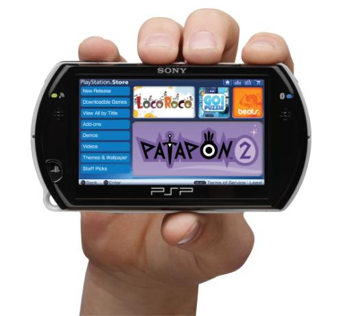 PSP go - This is a picture of the PSP go.