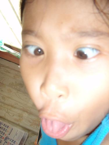 Funny - My niece is very funny. She can make her eyes cross eyes. She like to dance and make funny faces.