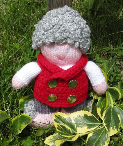 Bilbo Baggins - The Hobbit - This is the last hobbit in my collection. You can see him on my knit/crochet toy blog, 3BagsWool. He is knitted and wearing a crocheted vest.