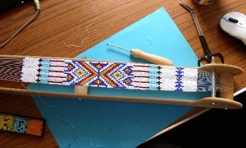 Native American style bead weaved strip - This is the project I have nearly finished