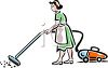 Lady cleaning - Sometimes it helps me feel better.