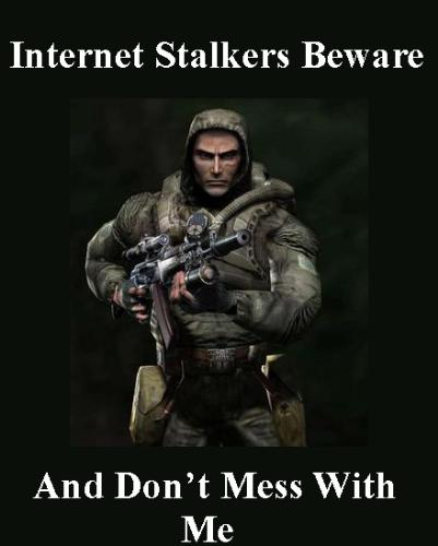 Internet Stalker Beware - image of internet stalker