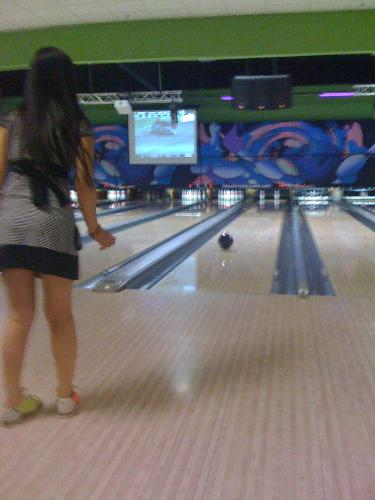 bowling time - playing bowl with my friends.