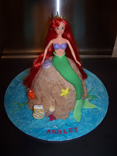 The Little Mermaid Birthday Cake Fondant. a little mermaid birthday cake