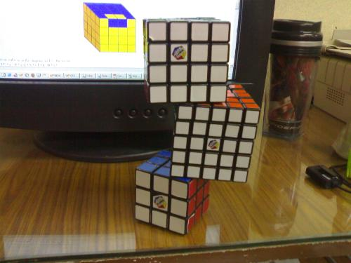 My Cubes - This my Rubik's cubes, a 3x3x3, 4x4x4 and 5x5x5