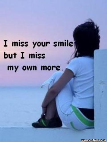 missing  - missing is a pain ful thing