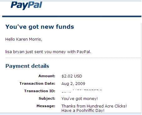 HAC Payment Proof - My first payment from Hundred Acre Clicks.