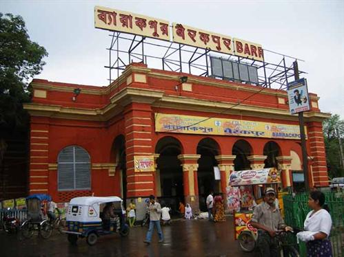 Barrackpore - Barrackpore railway station.