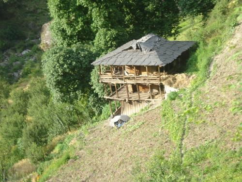 a traditional wooden house in himalayas wooden houses in