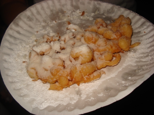 funnel cake - funnel cake usually you find it in carnival, or fair