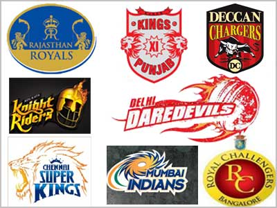IPL logos - Logos of all the eight teams which participate in the Indian Premier League