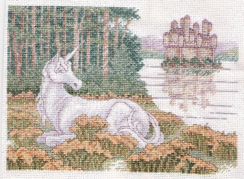 "Gentle Creature - A cross-stitch ""mini"" I finished earlier this summer. Designer: Teresa Wentzler"