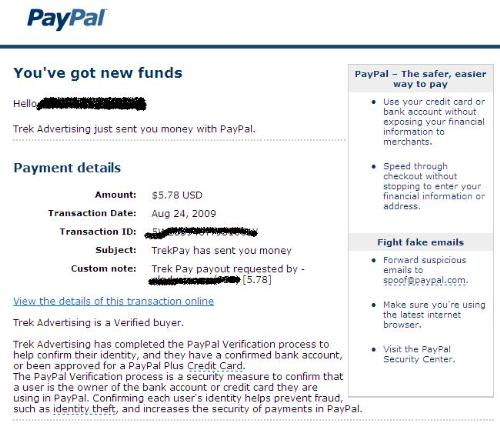 Payment Proof - Here is my payment proof of my first payment from my legit Paid to Click site.