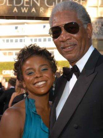 Morgan Freeman and granddaughter, E'Dena - Morgan Freeman with his adopted granddaughter,E'Dena