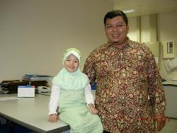 Me and My daughter - this picture was taken when we have wedding invitation