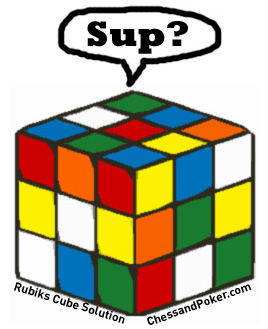 Rubik's Cube - Photo taken from http://www.chessandpoker.com/rubiks-cube-solution.html