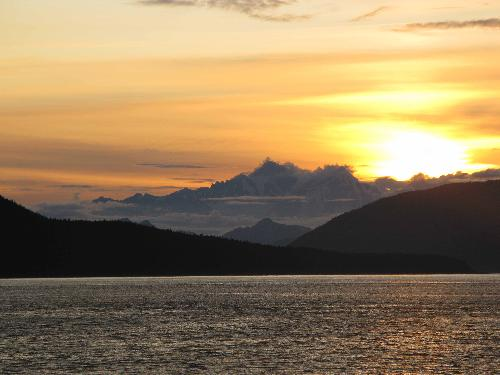 Alaskan Sunset - This was taken from on board a cruse ship.