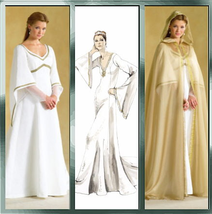 My dress - The dress will probably be periwinkle with navy blue trim, in the style of brides of the Renaissance. The color of brides then was blue, not white.