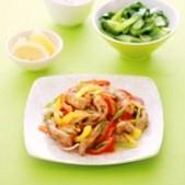 Lemon Pork Stir-fry - Low-carb entrée for diabetics