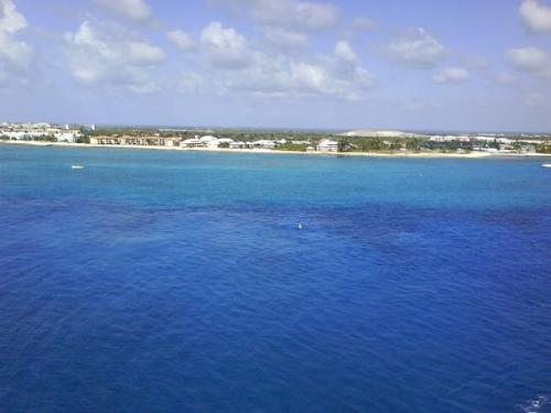 Ocean - This was a picture of the water that I took from the ship. I believe this was in Grand Cayman.
