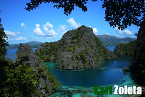coron, palawan - one of the most cleanest lake in the philippines kayangan lake coron, palawan philippines