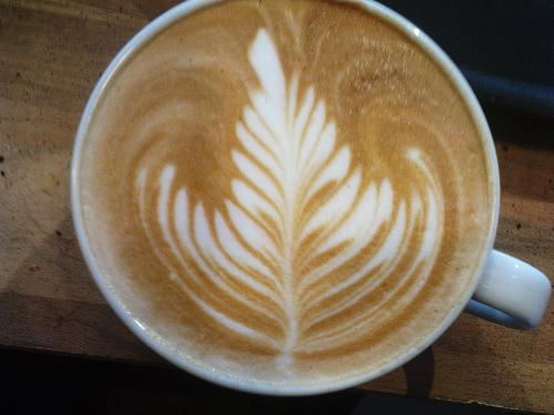 flat white - a photo of the kind of coffee I am looking for.