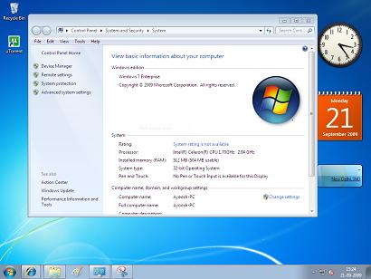 Windows 7 goes lowww!!!! - System property box of windows 7