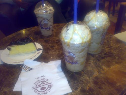 coffee shakes - my favorite coffee blends, taken when we go to a coffee shop near my office. :)
